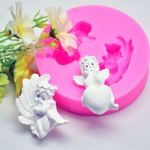 Cute Baby Angel Wings Love Heart Prayer Pendant Keychain Silicone Resin Mold Epoxy Resin DIYJewelry Making Tools