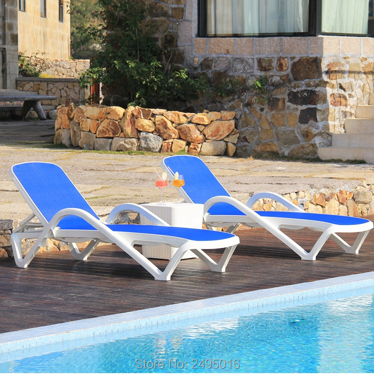 High-quality-Fabricreplaceable) -Stackable-swimming-pool-chaise-lounger-outdoor,Garden Easy To Move