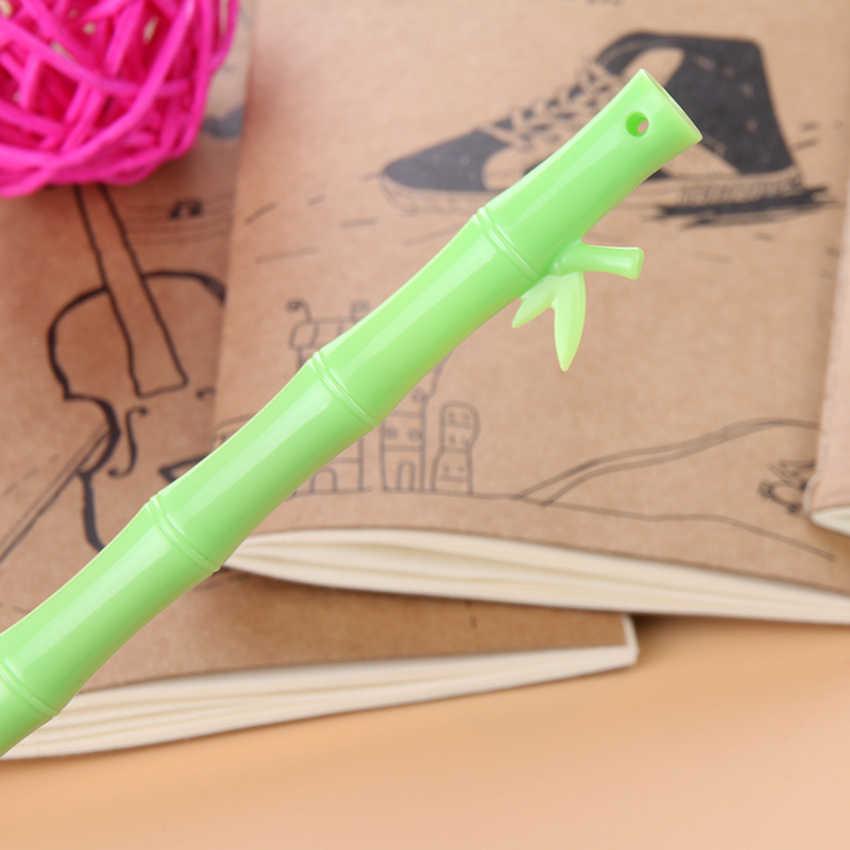1 pc 0.38mm שחור דיו מכירה לוהטת חדש לגמרי Creative קוריאה מכתבים חמוד במבוק ג 'ל עט 1 סדר