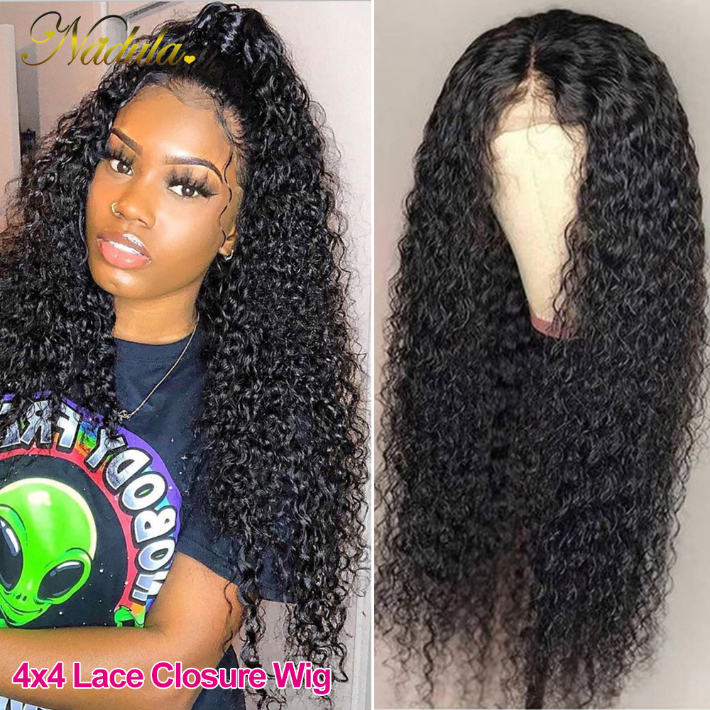 Nadula Curly  Wigs 13x4 Lace Front  Wigs 10-24 Lace Wig  Hair Lace Front Wig Pre plucked with Baby Hair 4