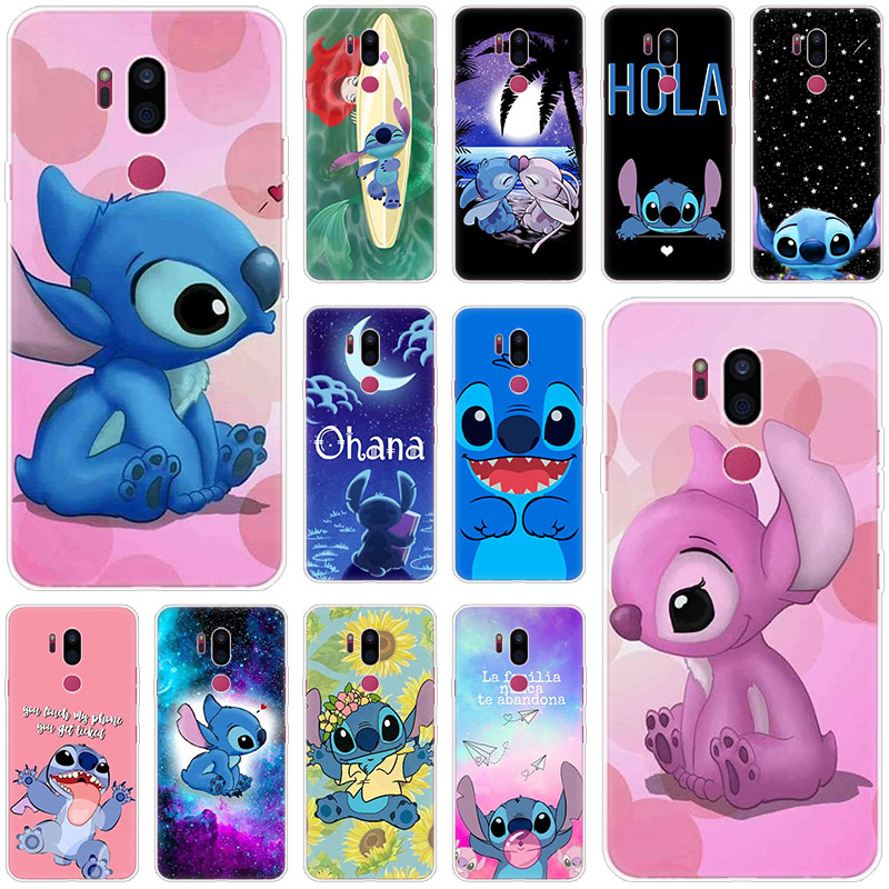 Cute Cartoon Stitch Silicone Case For LG G5 G6 Mini G7 G8 G8S V20 V30 V40 V50 Thinq Q6 Q7 Q8 Q9 Q60 W10 W30 Aristo 2 X Power 2 3
