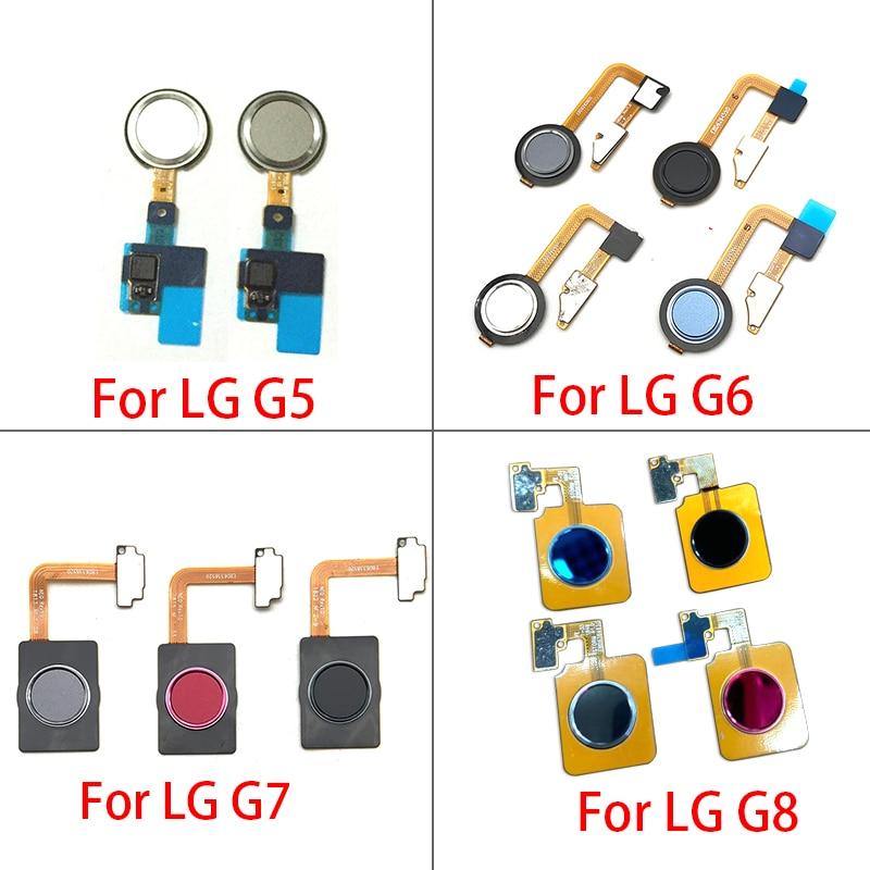 New Touch ID Fingerprint Sensor Home Return Key Menu Button Flex Cable For LG G5 G6 G7 G8 Repair Parts