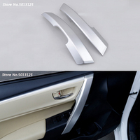 ABS Chrome Matte trim inner door armrest decoration cover trim Inner Door Panel Handle Pull Trim Cover For Toyota Corolla