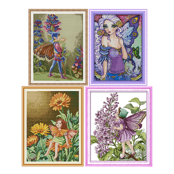 Butterfly fairy series patten cross stitch handmade counted cross stitch DMC 11ct 14ct printed canvas embroidery needlework kit swing handmade dmc cotton thread printed canvas cross stitch embroidery kit 14ct 11ct counted and stamped diy needlework crafts
