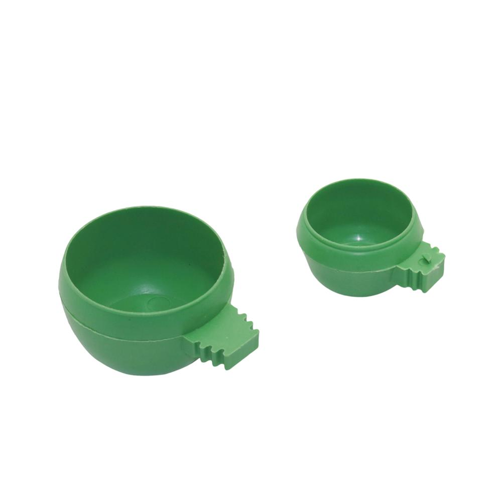 New Parrot Bird Hamster Feed Bowl Cage Hanging Drinking Food Feeder Plastic Round Water Cup Bowl Feeding Bowl Tools 1Pc