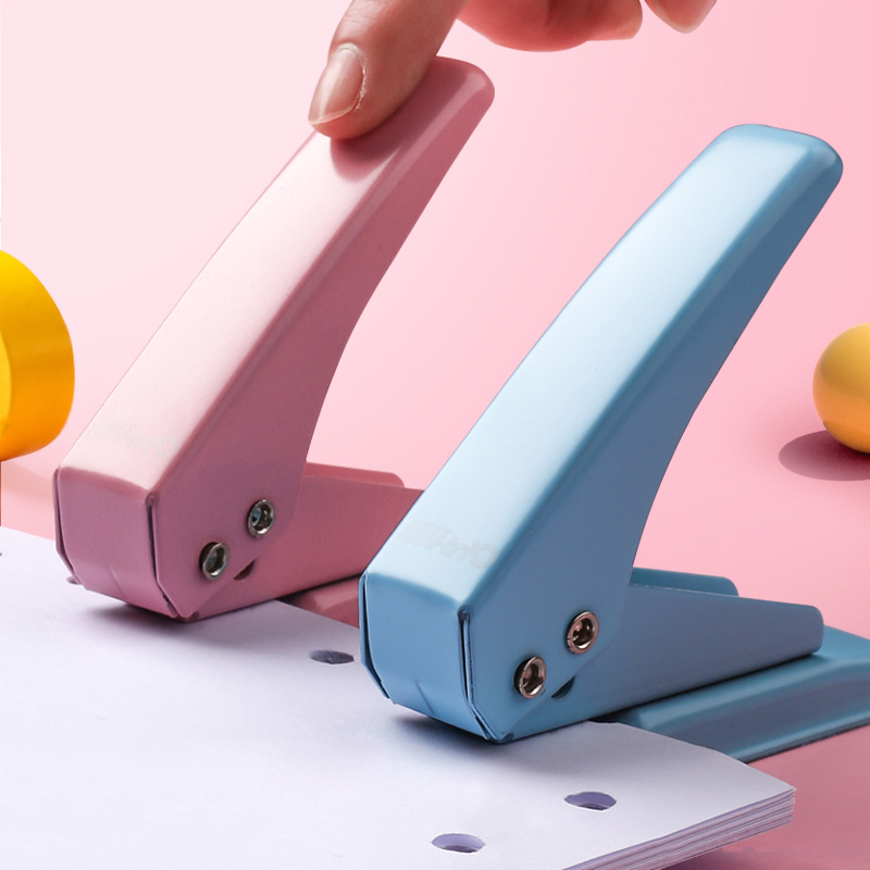 Metal Single Hole Punch School Paper Cutter DIY Loose-Leaf Hole Puncher Scrapbooking Tools Office Binding Stationery
