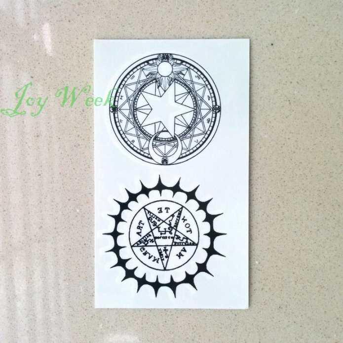 Водостойкая временная татуировка наклейка Черный Дворецкий контракт символ компас аниме тату флэш-тату поддельные татуировки для мужчин и женщин