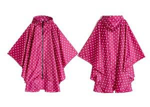 Image 4 - Freesmily kadın moda yağmurluk su geçirmez yağmur panço pelerin Hood yürüyüş tırmanma ve tur