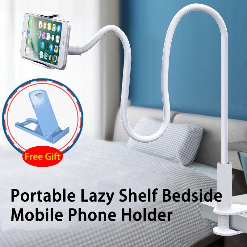360 Clip soporte para teléfono móvil portátil Flexible cama perezosa soporte de escritorio soporte de montaje soporte Base 75cm