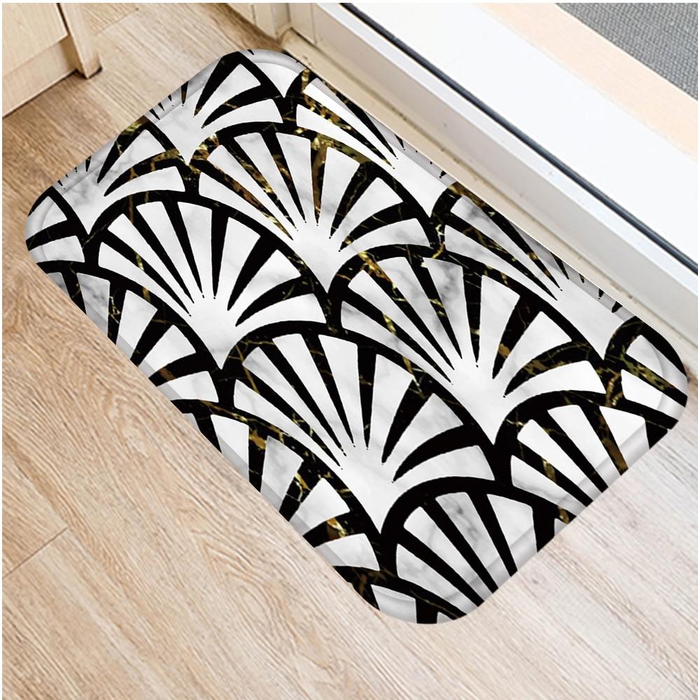 Image 5 - 40 * 60cm Geometric Marble Floor Mat Non slip Suede Carpet Door  Mat Kitchen Living Room Floor Mat Bedroom Decorative Floor Mat .Rug