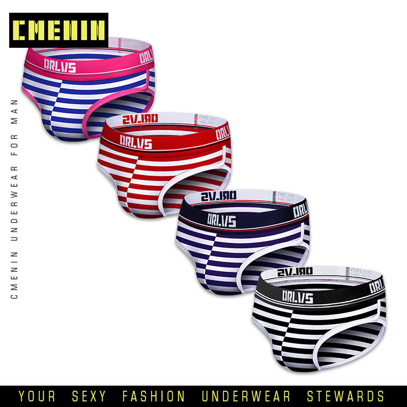4Pcs/lot 2020 New Comfortable Sexy Mens Underwear Briefs Letter Innerwear Cotton Men's Briefs Bikini Gay Underwear Cueca OR501