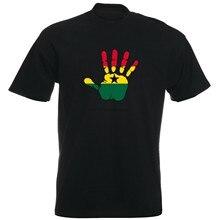 GHANA - Maglietta - impronta mano - Palma stampa - Uomo - bandiera africa(1)