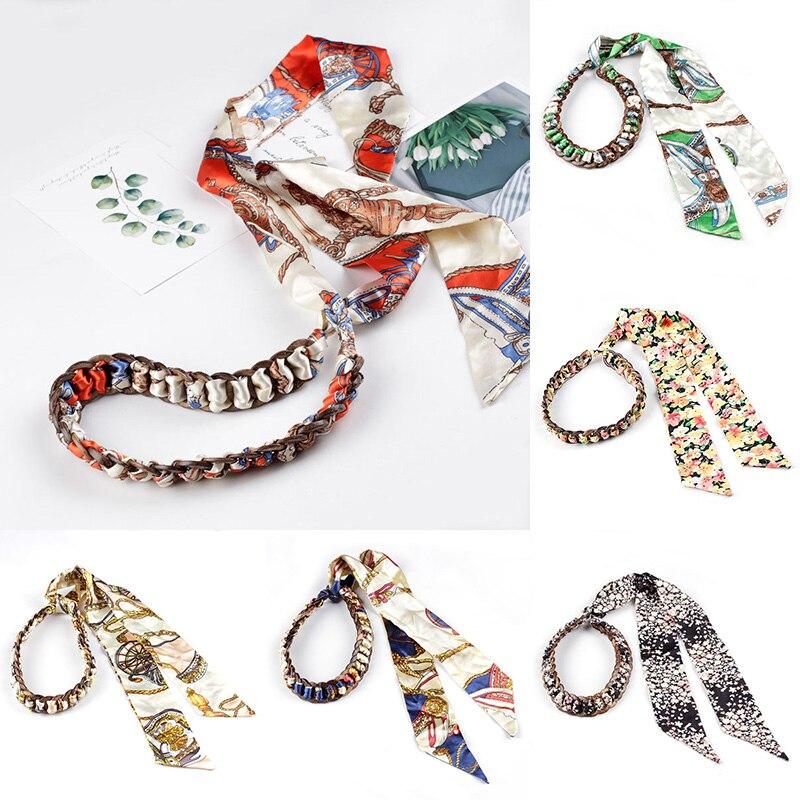 Fashion Women Chiffon Ribbon Belt Coconut Shell Cloth Woven Fine Waist Seal Waist Chain Waistband Female Dress Accessories