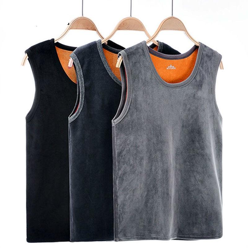 Warm Vest For Man Keep Warm Underwear Men Vest Men's Winter Thermo Shaping Large Size Male Vest Comfortable With Velvet #ert4