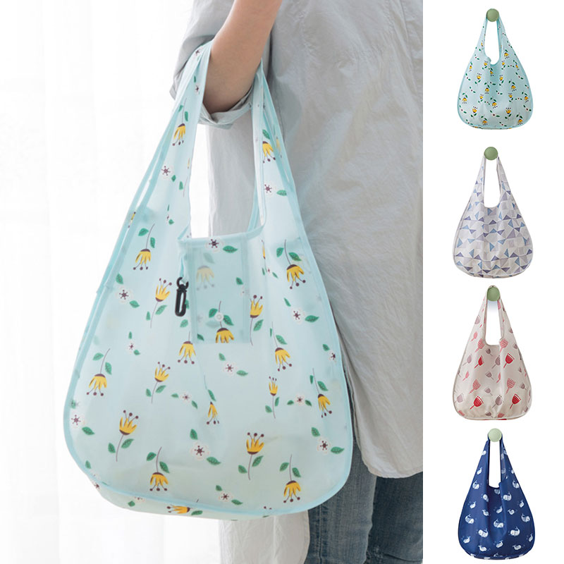 Women Reusable Foldable Recycle Eco Grocery Bag Shopping Carry Bags Tote Handbag