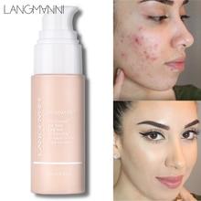 Langmanni 30ml Liquid Foundation Soft Matte Base Concealer Professional Face Make Up Color Changing Contour Palette