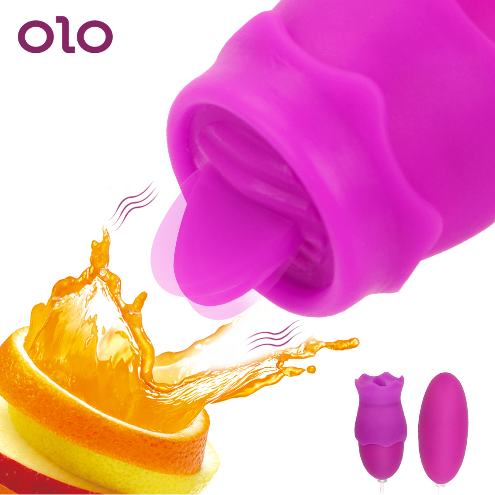 OLO Clitoris Stimulator Bullet Tongue Vibrator Vagina Ball Vibrating Egg G Spot Oral Licking Nipple Sucker Sex Toys For Women
