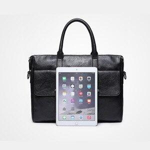 Image 3 - Scione الرجال حقيبة جلدية حقيبة جديدة المحمولة حقيبة أعمال للرجال مكتب محمول حقيبة ساعي حقيبة الجراب الجلدية حقيبة