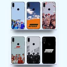 ATEEZ KPop Boys Group โทรศัพท์กรณีสำหรับ Xiaomi Redmi หมายเหตุ7 8 9 T Max3 S 10 Pro Lite Funda shell Coque Cover