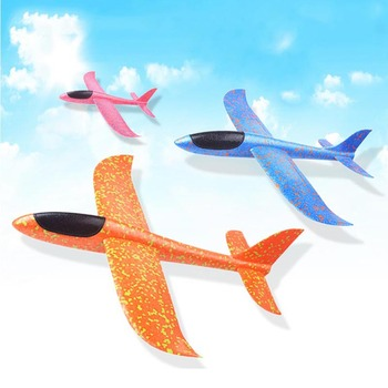 Foam Plane Throwing Glider Airplane Toy Inertial Foam EPP Flying Toy Plane Model Outdoor Fun Sports Planes toys for children kf606 2 4ghz rc airplane flying aircraft epp foam glider toy airplane 15 minutes flight time rtf foam plane toys kids gifts