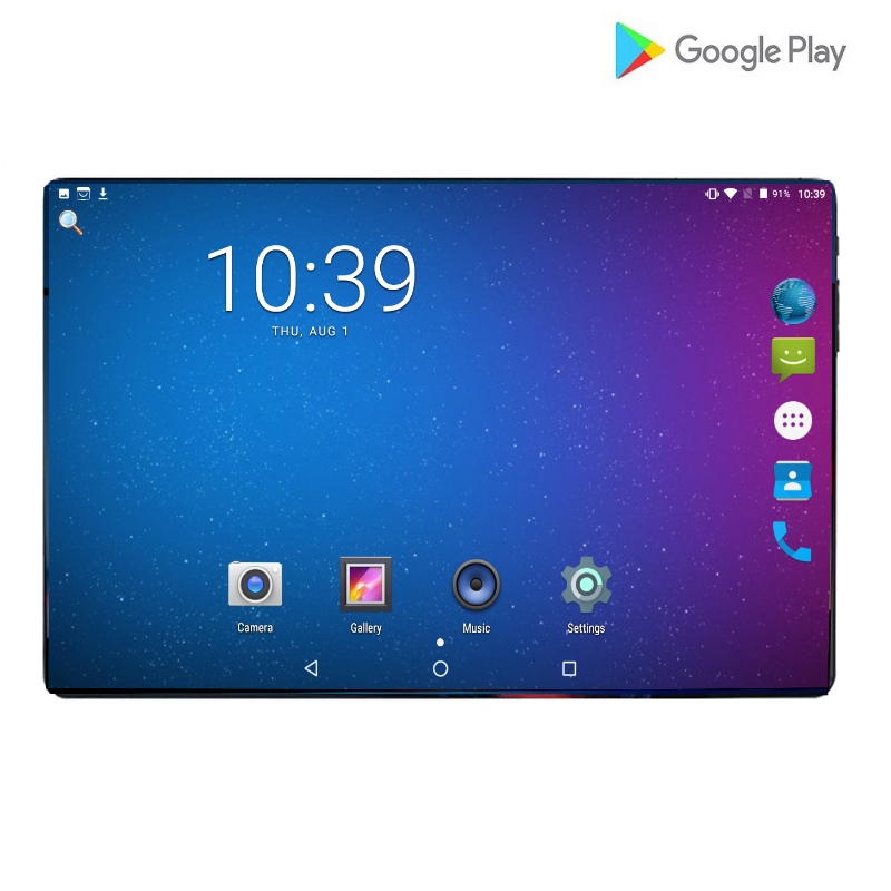 Newest Ultra Slim 10.1 Inch Tablet PC Android 9.0 6GB RAM 64GB ROM Octa Core 6000mAh Dual Cameras 8.0MP IPS Phone Tablets