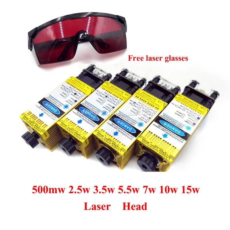 DIY Desktop Cnc Wood Laser Cutter Engraving Machine Laser Head 500mw 2500mw 3500mw 5500mw 7w 10w 15w 450NM Blue Purple Laser