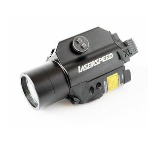 Image 2 - Drop Verzending Laserspeed LS CL2 R Red Beam Laser Sight En Tactische Zaklamp Combo Voor Pistool Met Strobe Light