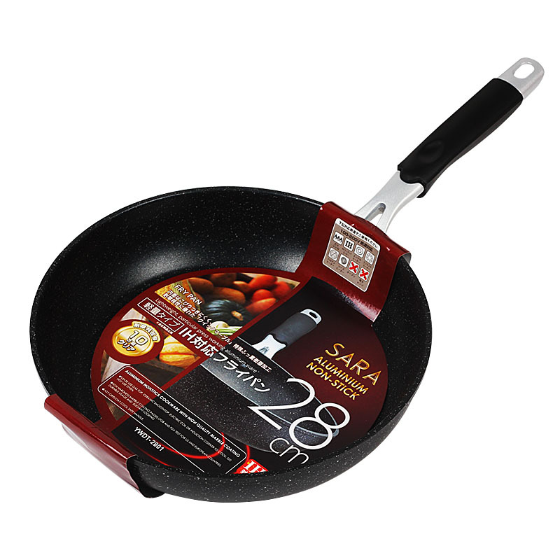 Frying Pan 28cm Medical Stone Free Stone-Derived NonStick Pans Aluminum Dishwasher Safe Cooking Skillet For Gas And Induction