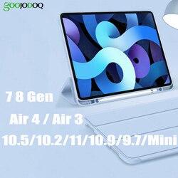 Для iPad Air 4 iPad Pro 11 2020 10,2 чехол для iPad 8-го поколения Чехол Funda 8 generacion Air 2020 2018 9,7 Air 3 Mini 5 Чехол