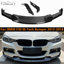 Front-Lip Spoiler Sport-Bumper Upper-Splitter Carbon-Fiber Chin F30 for BMW with F35