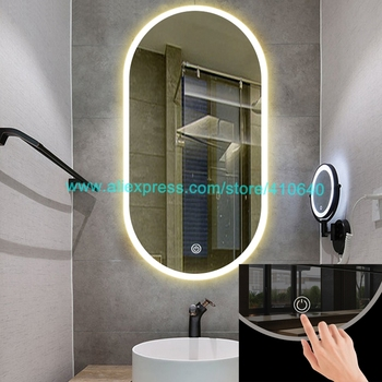 1 Piece Glass Light Mirror Touch Switch For LED Mirror Electrical Appliance Touch Switch Dimmer Sensor For Hotel Bathroom Mirror