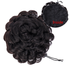 Curly Chignon Clip Ins Ponytail Brazilian Remy Human Hair Drawstring Chignon Hair Pieces for Women Chignon Hair Bun Extension