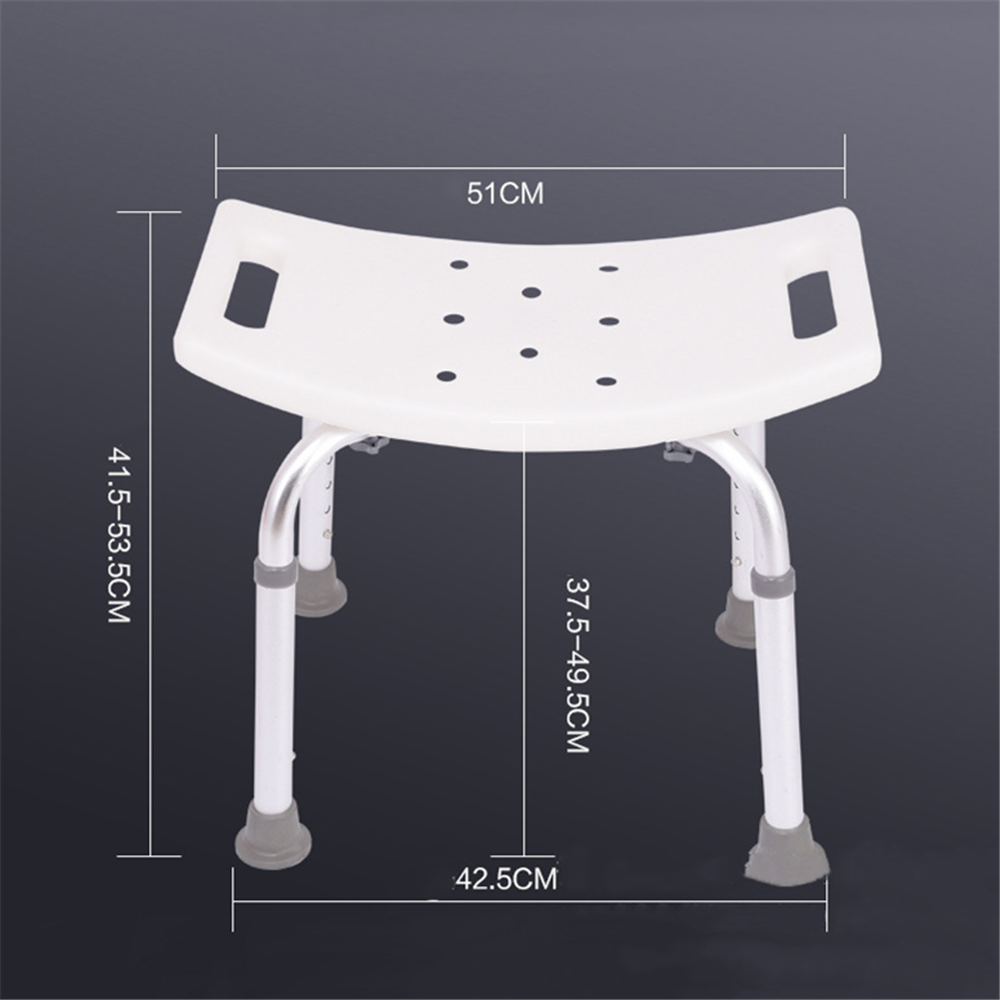 Aid Seat Without Back Chair Height Adjustable Non Slip Toilet Seat Disabled Home Adult Elderly Pregnancy Kids Bath Shower Stool 4