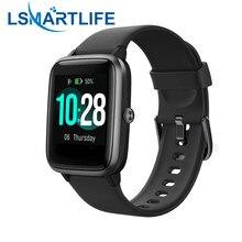 Id205l relógio inteligente tela colorida pulseira pedômetro à prova dwaterproof água esportes de fitness correndo caminhada rastreador freqüência cardíaca para ios android