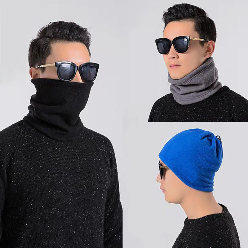 3 in 1 Multifunction Winter Neck Warmer Unisex Fleece Warmer Neck Ring Scarf Winter Hat Outdoor Sports Face Mask Scarves 1