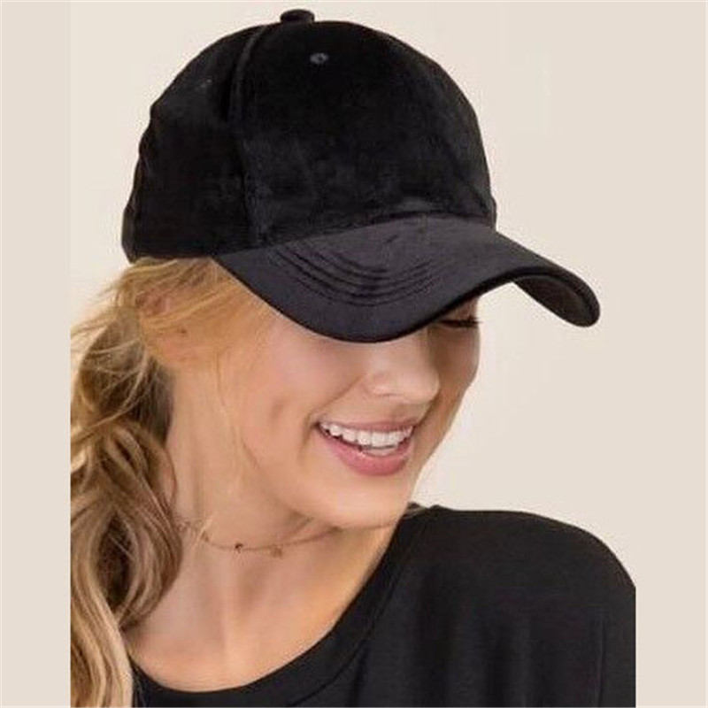 High Quality Solid Velvet   Baseball     Cap   2019 Autumn Women and Men Adjustable Casual Lustrously Snapback Travel Trucker Hat   Cap