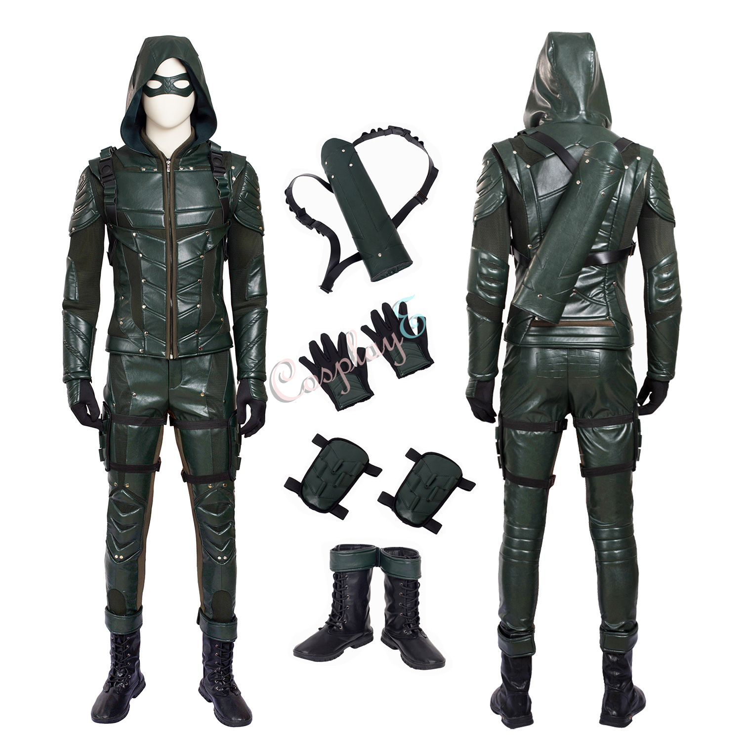 Green Arrow Costume Arrow Season 5 Cosplay Oliver Queen Full Set High Quality Outfit