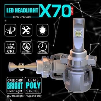 2pcs Car LED Headlight H7 H4 LED H11 9005 9006 H1 9012 D1 D2 D3 D4 120W 15600LM Auto Bulb Headlamp XPH70 Chips 6000K Fog Light