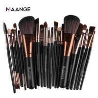 Novo pro 22 pçs pincéis de maquiagem cosméticos conjunto blush pó fundação eyeshadow delineador lábio compõem escova ferramentas beleza maquiar