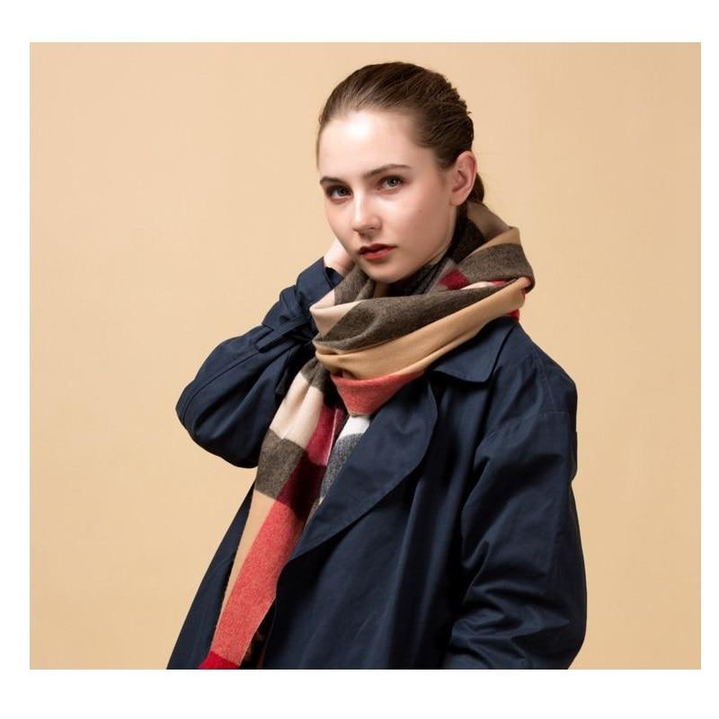 Worsted Type Women 100% Wool Scarf Wraps Shawl Super Soft Warm 200x70cm