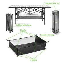 Odkryty składany stół krzesło Camping stół piknikowy ze stopu Aluminium wodoodporny trwały składany stół biurko dla 95*55*68cm