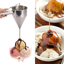 Stainless Steel Conical shape Octopus Balls Making Funnel with rack Batter Dispenser for Cupcake Pancake Baking Tools Helper 2021 new arrival popular diy tool 900ml cupcake pancake batter dispenser muffin helper mix pastry jug baking family essential