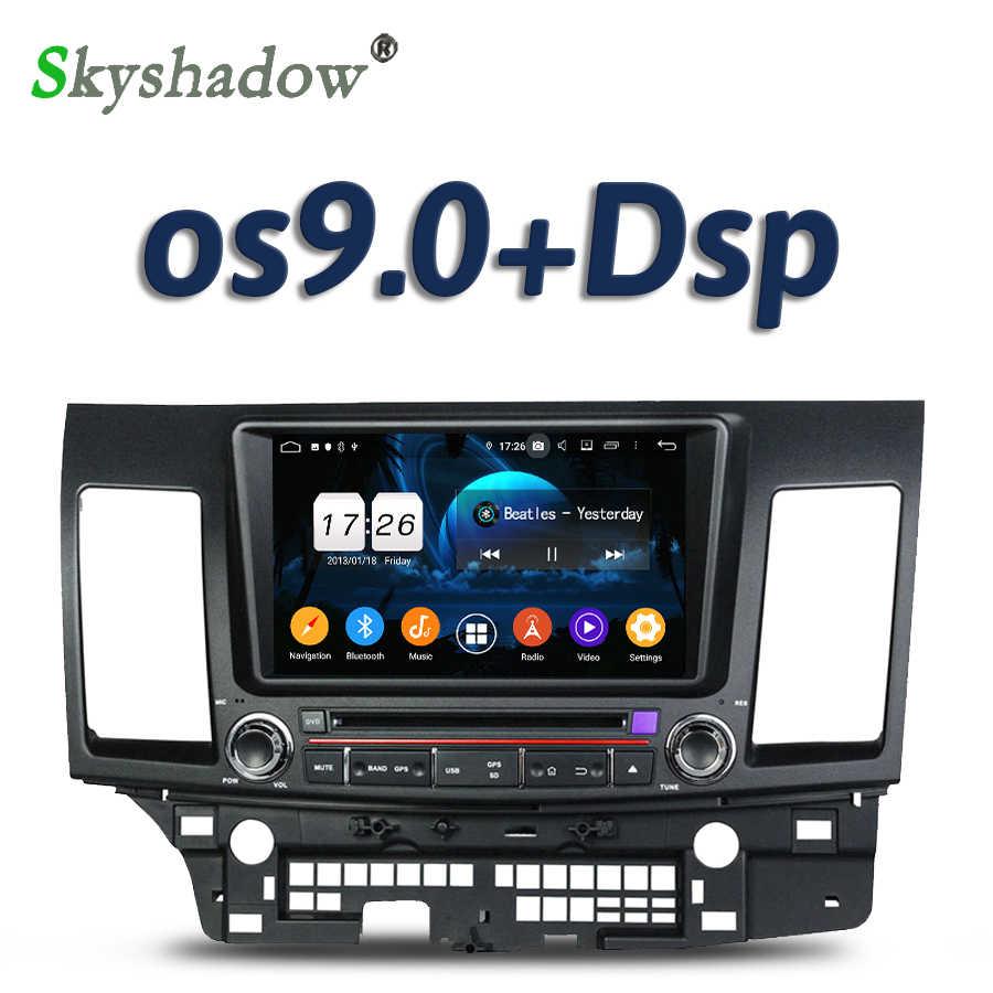 DSP TDA7851 Android 9.0 2GB RAM 16GB 4 Nhân Đầu DVD Ô Tô Bản Đồ GPS RDS Radio Wifi Bluetooth 4.0 Cho Xe Mitsubishi Lancer 2006-2012
