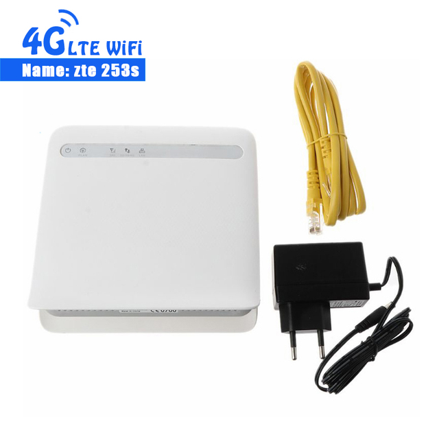 unlocked ZTE MF253s 4G LTE CPE Wireless Router with Antenna 4G CPE Router with SIM Card Slot mf253 4g router