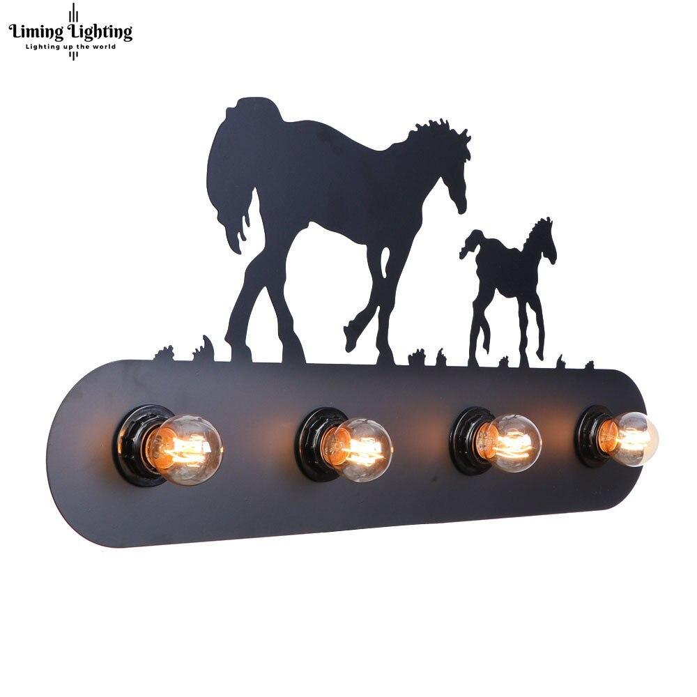 Réplique Industrielle Style Lettre Signe Animal Wall Light Lampe Applique Luminaires Mur Décoration Pour La Maison Chevet Bar Café Boutique