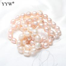 Cultured Freshwater Pearl Beads AAA Grade Loose Pearls Bead Jewelry Materials Light Purple For Jewelry Making 8-9mm Hole 0.8mm