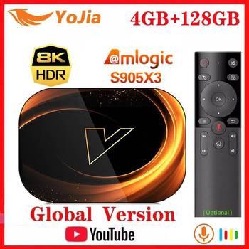 2020 NEW X3 Smart 8K TV Box Android 9.0 Amlogic S905X3 Max 4GB RAM 128GB ROM 64GB 1000M Dual Wifi Youtube Media Player