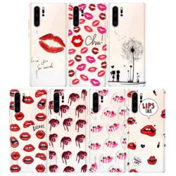 На Алиэкспресс купить чехол для смартфона love text sexy red lip mobile phone shell silicone case coque for huawei p40 pro p30 p20 lite mate30 mate 20 lite mate 10