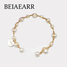 Bracelet bracelet fashion ladies natural pearl handmade copper wire accessories jewelry fac