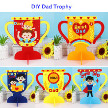 DIY Non Woven Dad Trophy Children Handmade Father's Day Gifts Handicrafts Kindergarten Craft Toys Daddy Reward